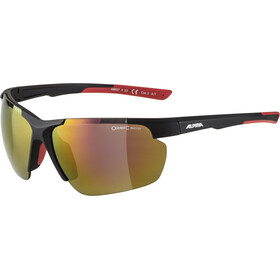 Alpina Defey HR Glasses, black matt/red mirror